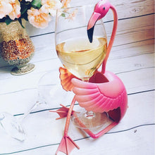 Load image into Gallery viewer, Fun Flamingo Wine Holder