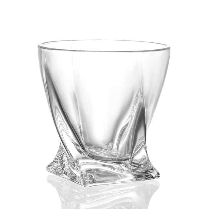 Unique Twisted Whiskey Glass
