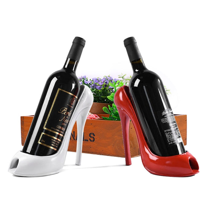 Stylish High Heel Wine Holder