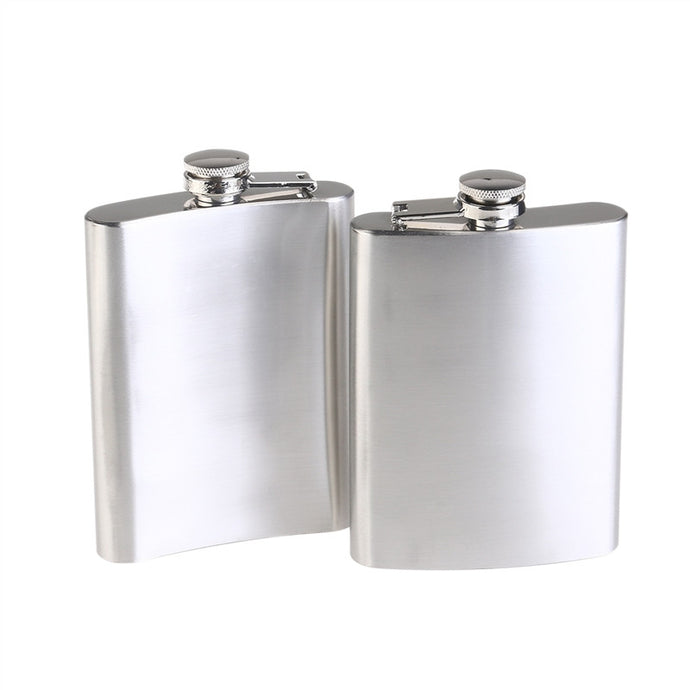 Stainless Steel Hip Flask (200ml | 2pcs)