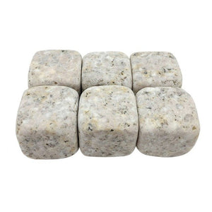 Natural Whiskey Stones (6 pcs) - White, Black, Light Grey, Yellow, Red, Dark Grey
