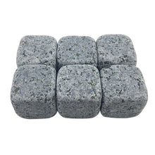 Load image into Gallery viewer, Natural Whiskey Stones (6 pcs) - White, Black, Light Grey, Yellow, Red, Dark Grey
