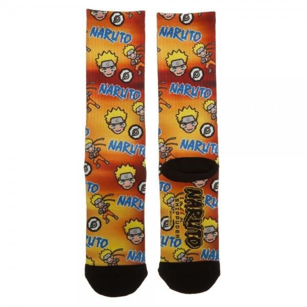 Naruto Pixel Sublimated Crew Socks ! - AnimeUltra