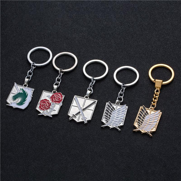 AOT Stainless Key Chains ! - AnimeUltra