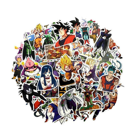Dragon Ball Mega Sticker Pack (82pcs) ! - AnimeUltra