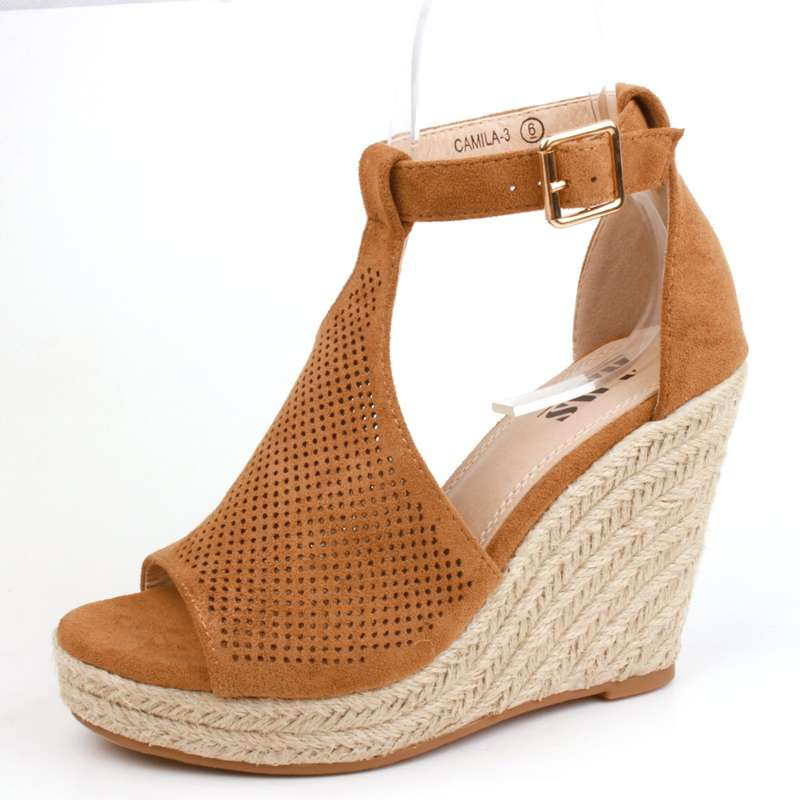 Toetally You - Platform Tan Wedges