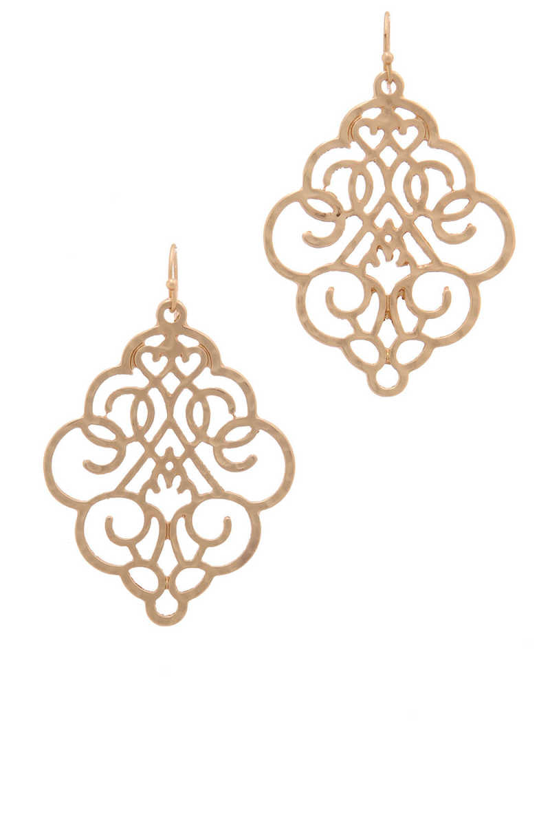 Accent You - Drop Earrings Gold