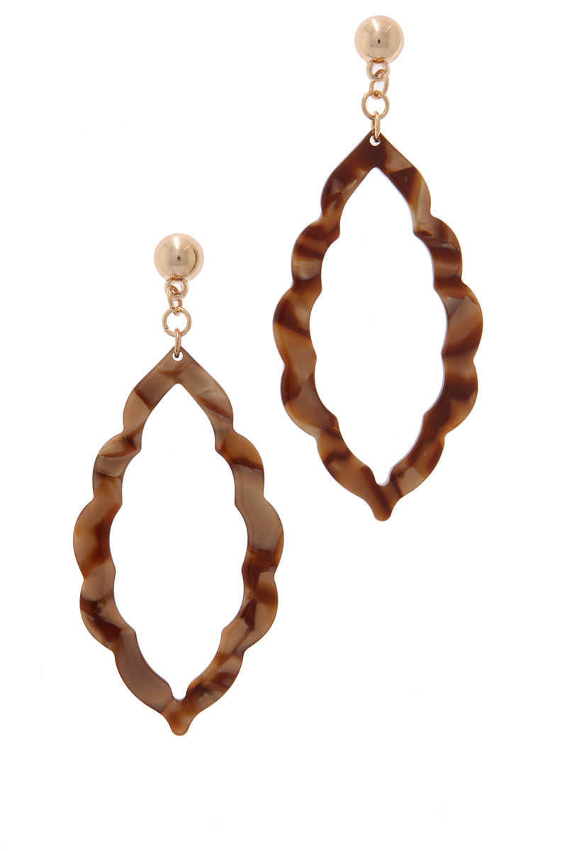 AccessHERize - Moroccan Drop Earrings Brown