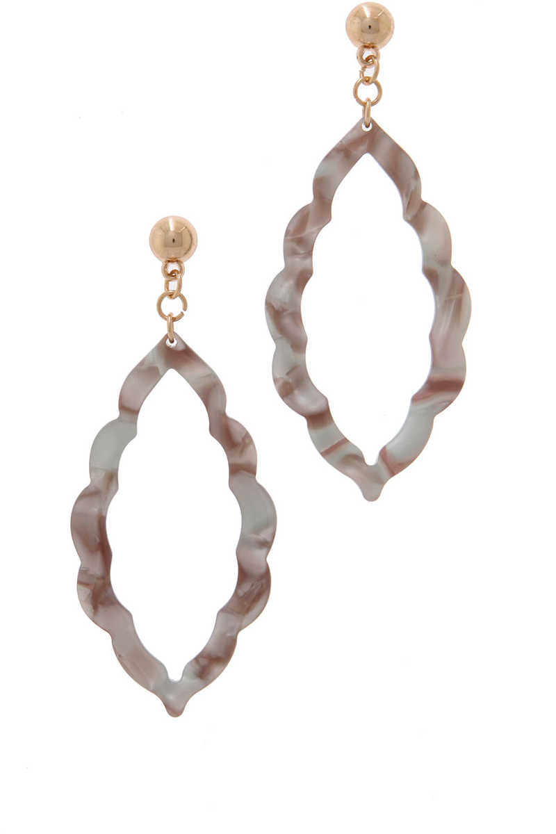 AccessHERize - Moroccan Drop Earrings Gray