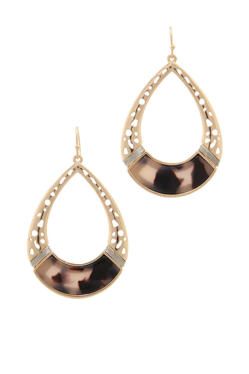 Be Adorned - Teardrop Earrings Brown