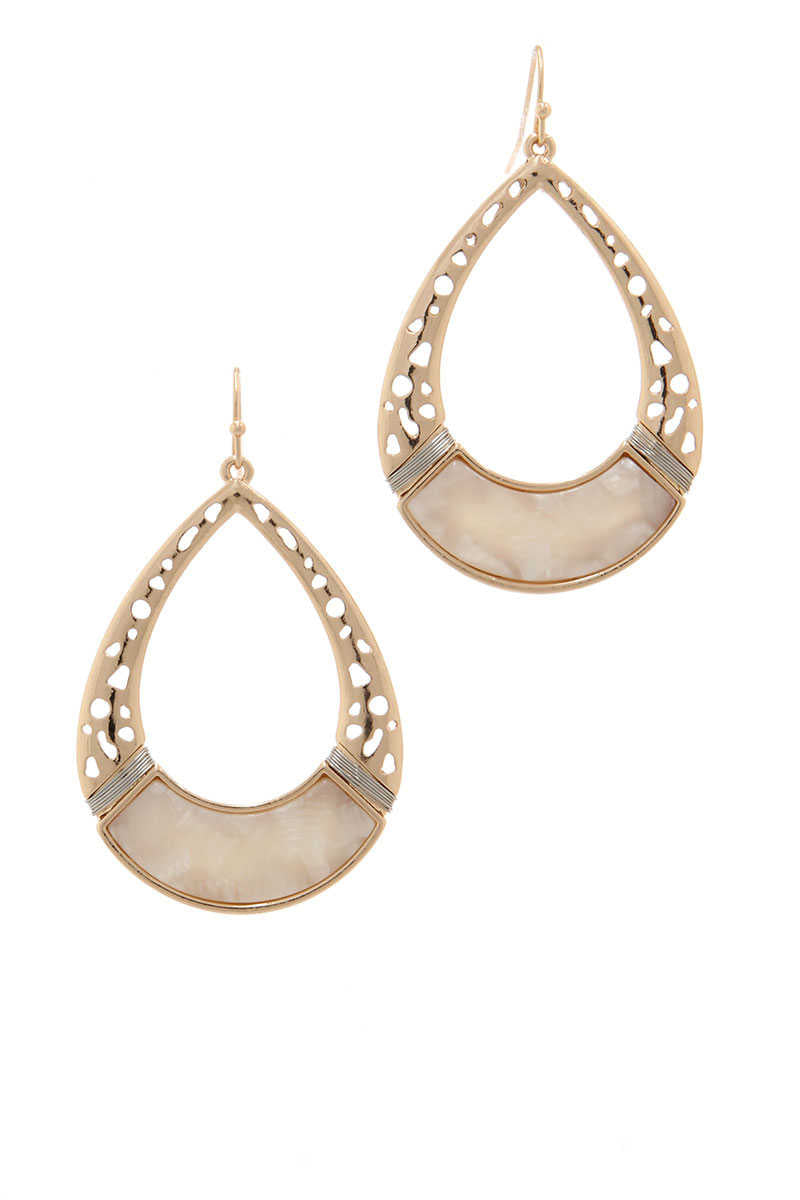 Be Adorned - Teardrop Earrings Ivory
