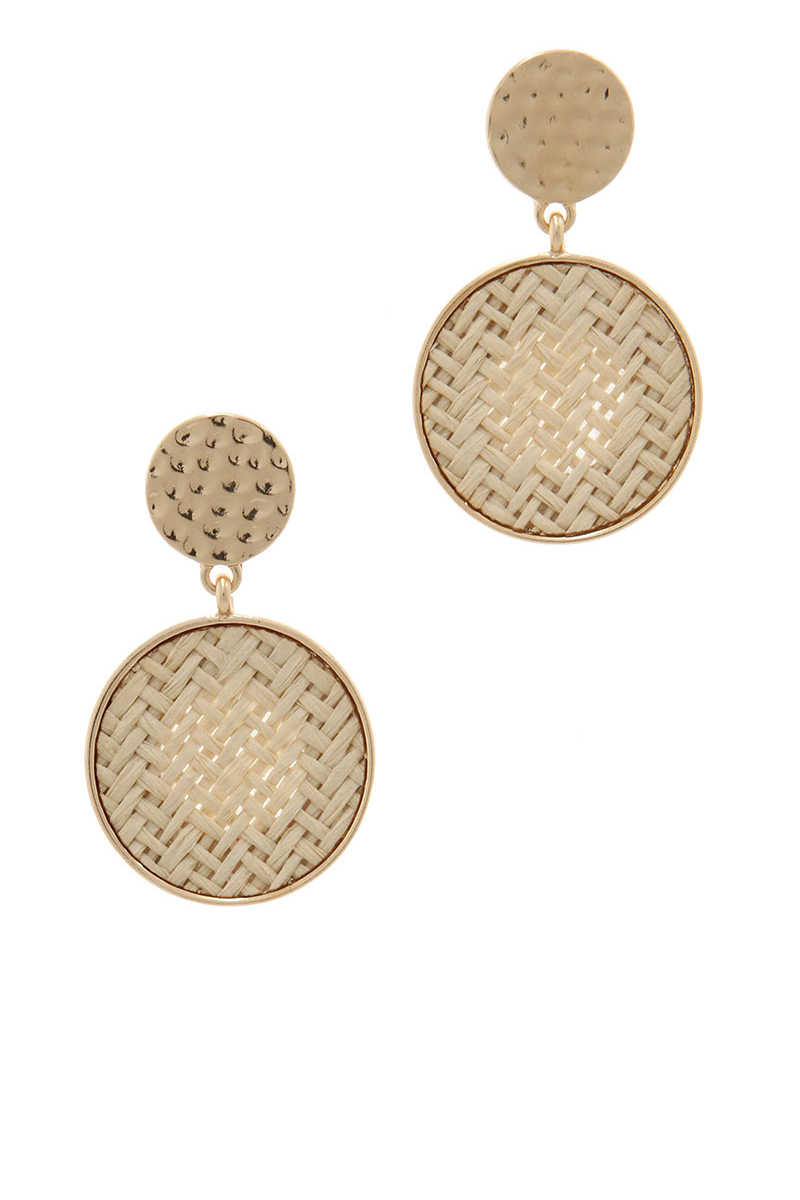 Charleston Sweetgrass Reed Earrings - Ivory