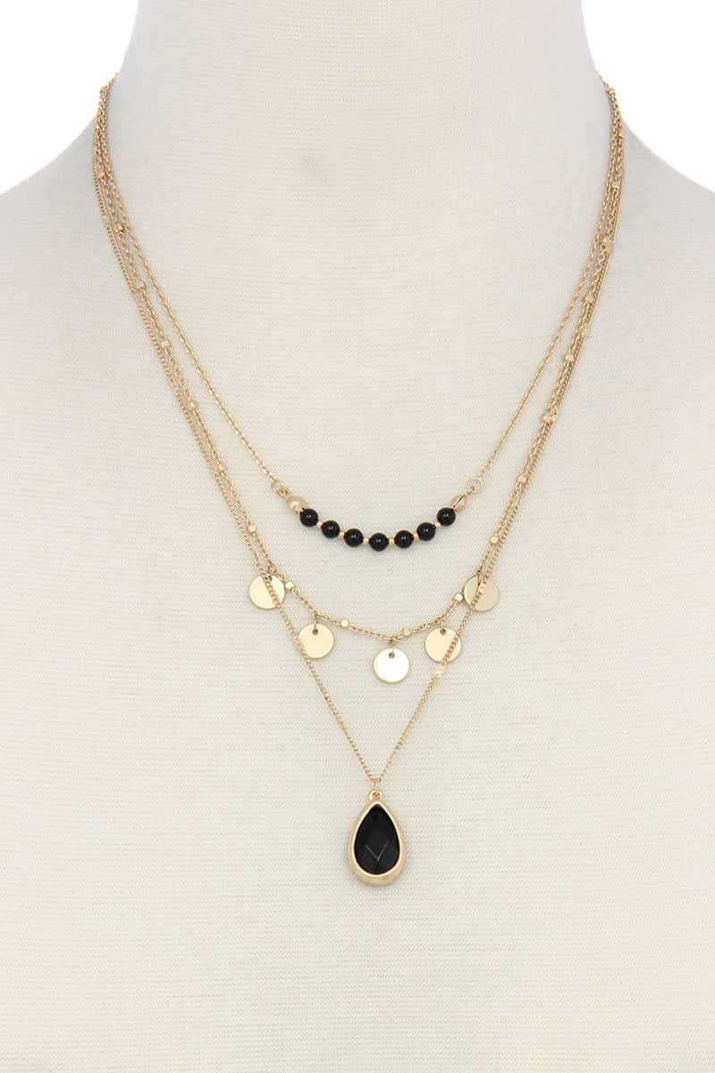 Distinctly Mine - Layered Onyx Necklace