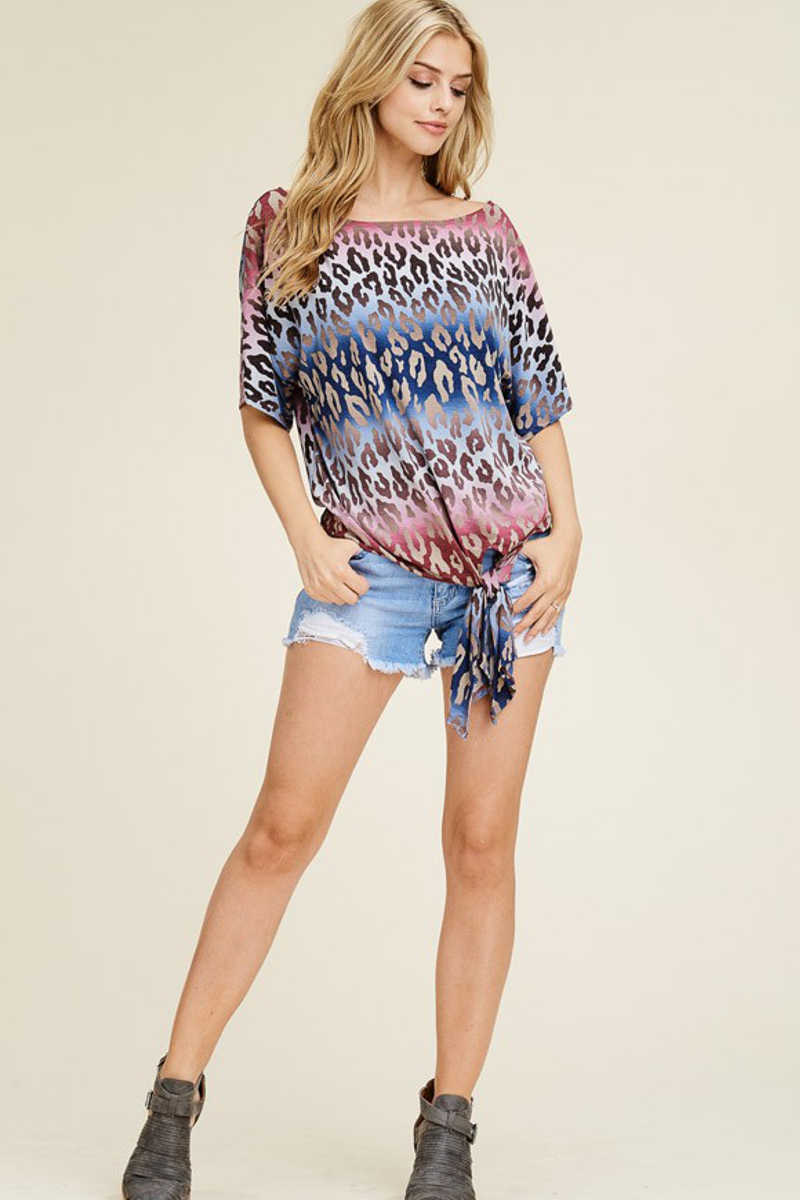 Fierce Fashionette - Off Shoulder Cheetah Top