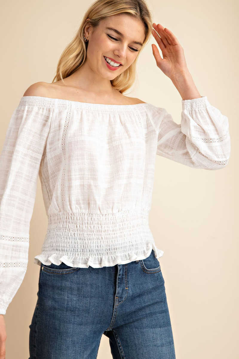 Flawless Romance - Off the Shoulder Top