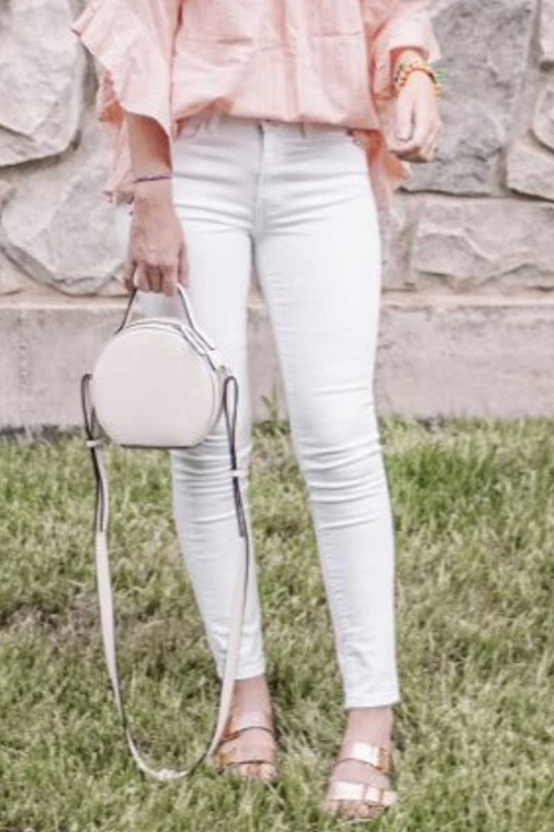 From The Ground Up - White Skinny Jeans