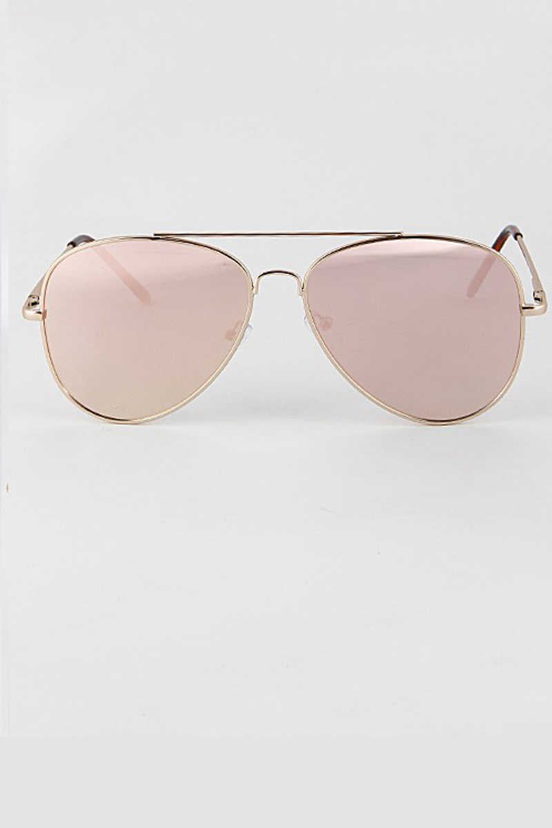 Futures So Bright - Pink Aviator Sunglasses
