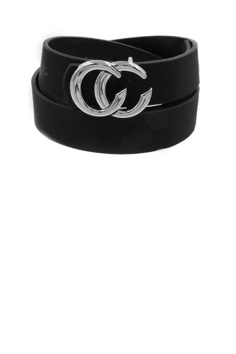 Get Your Chic On - Black Belt Silver Buckle