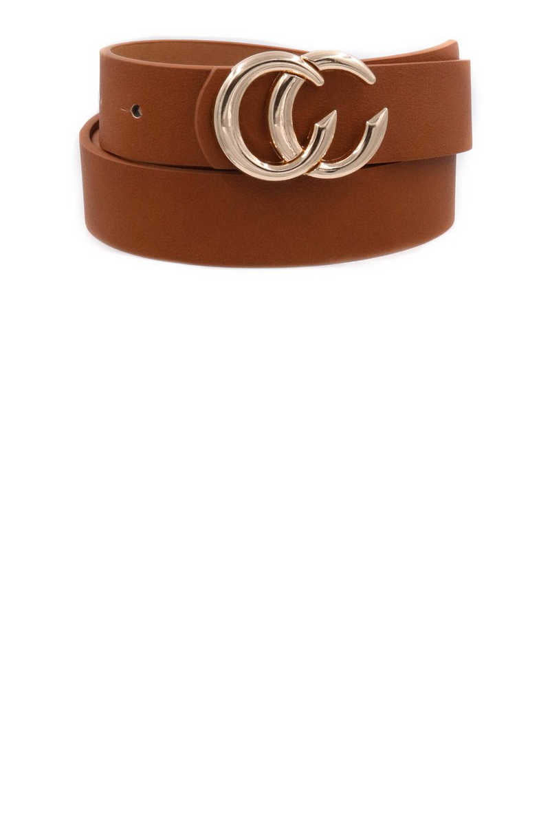 Get Your Chic On - Brown Belt Gold Buckle