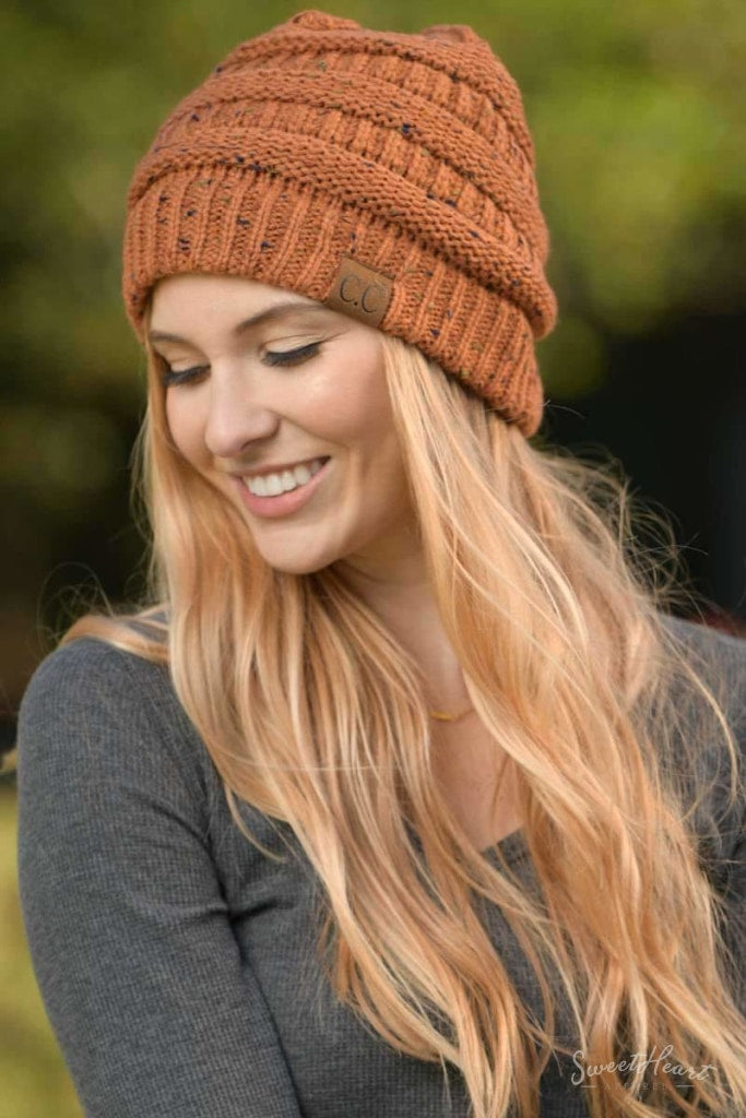 Just In The Knit Of Time - Melange Beanies One Size / Rust