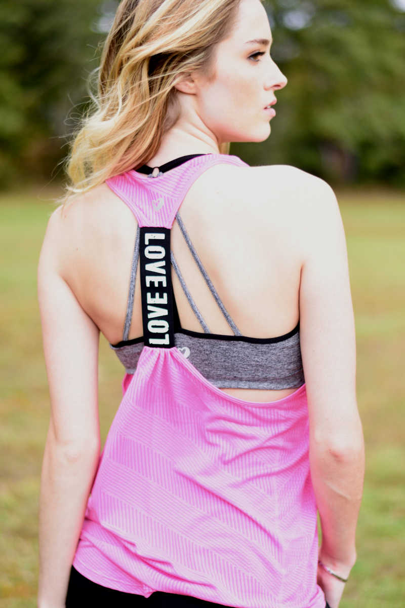 Let's Get Physical - Pink Love Racerback Tank Top