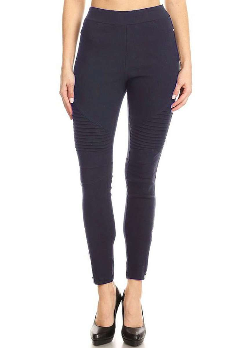 All The Rage - Black Moto Pants