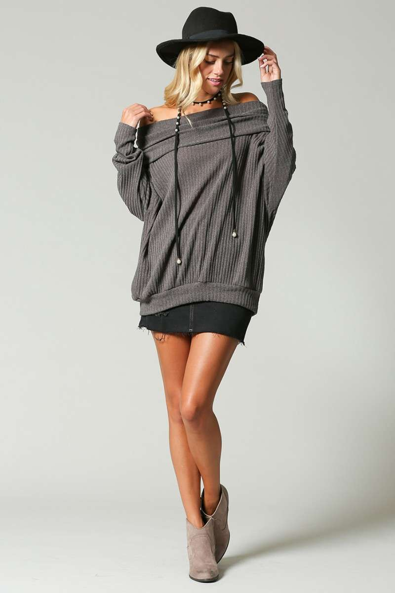 No Limits - Ribbed Sweater Taupe