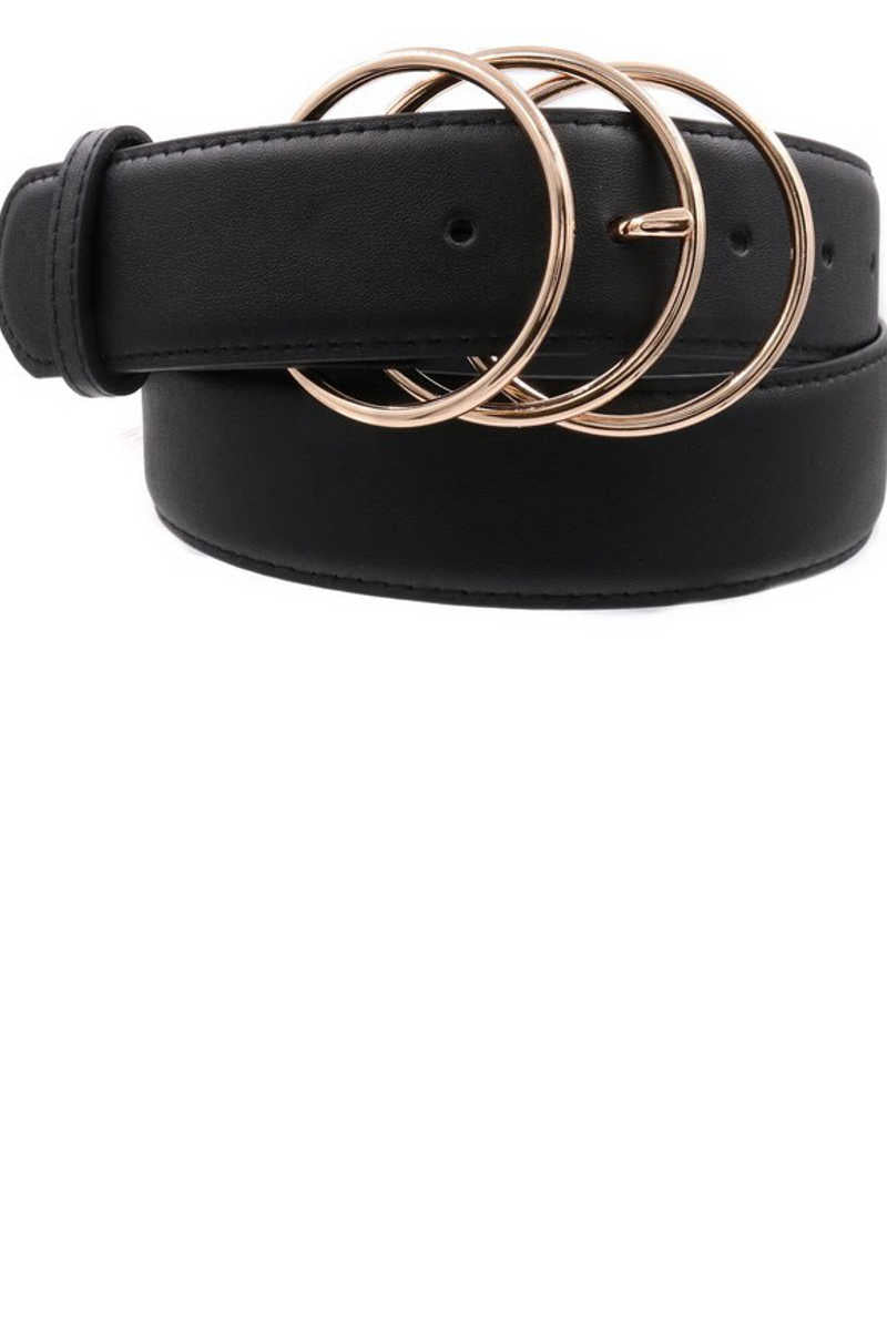 Ring Leader - Triple Rings Belt in Black