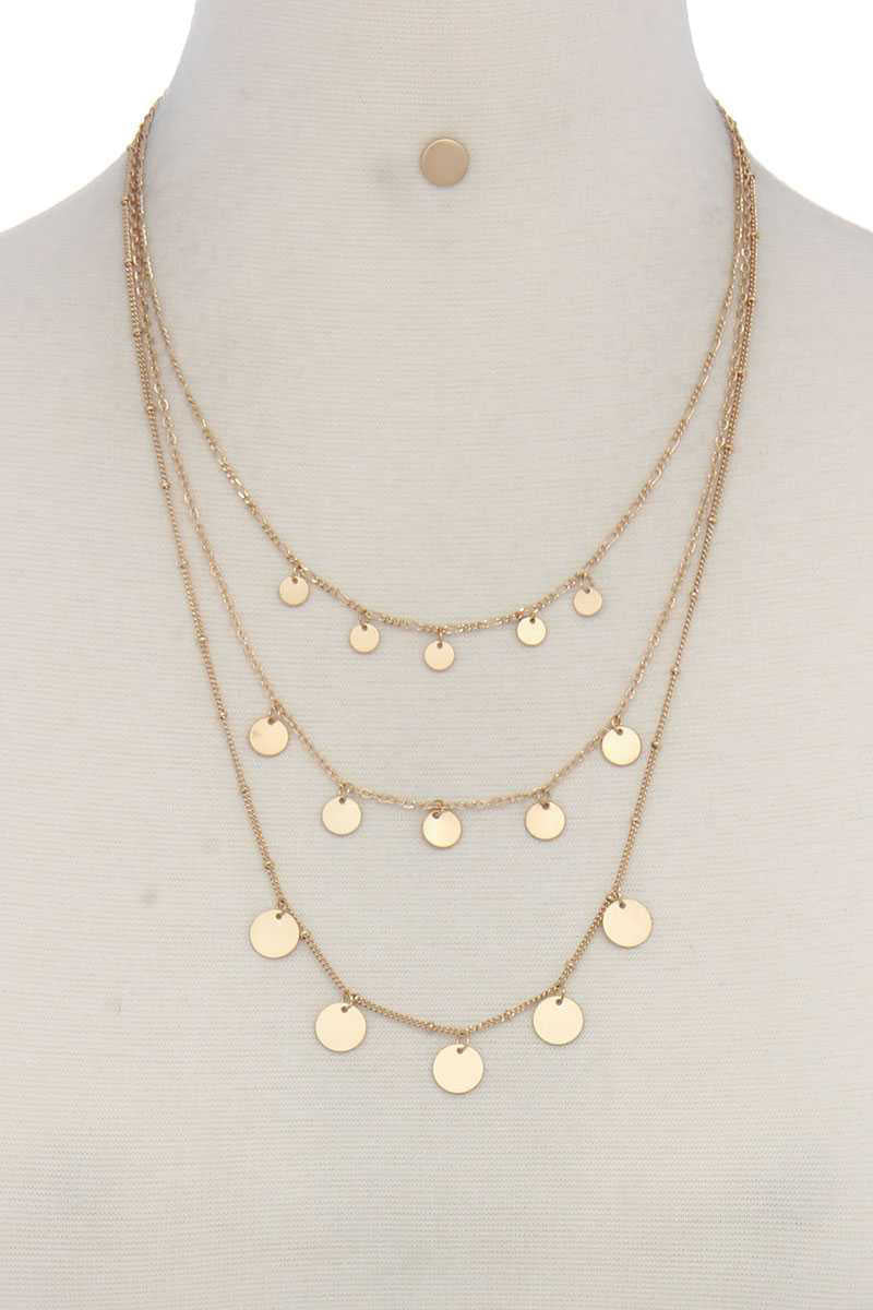 Rise 2 Shine- Layered Coin Necklace Gold