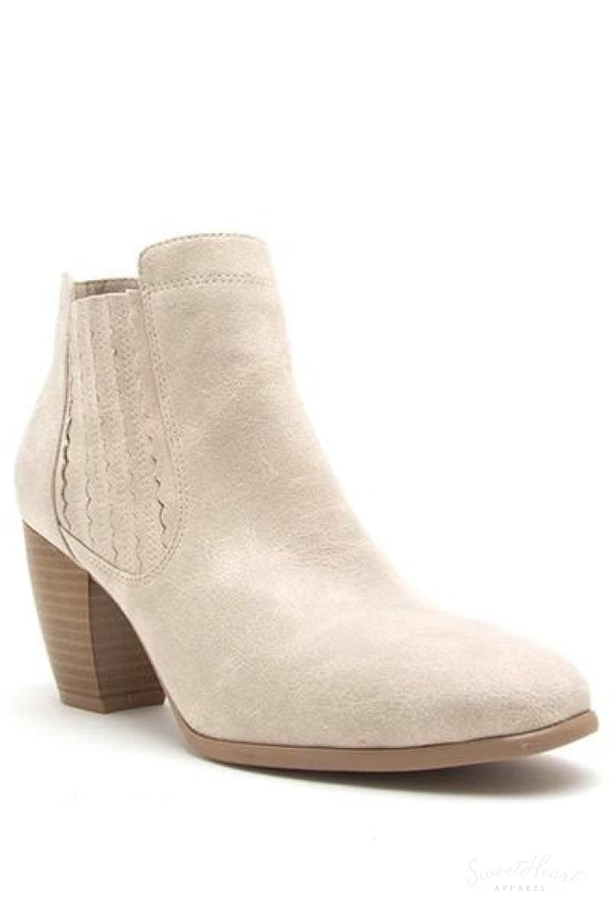 She Walks In Beauty - Classic Booties In Stone
