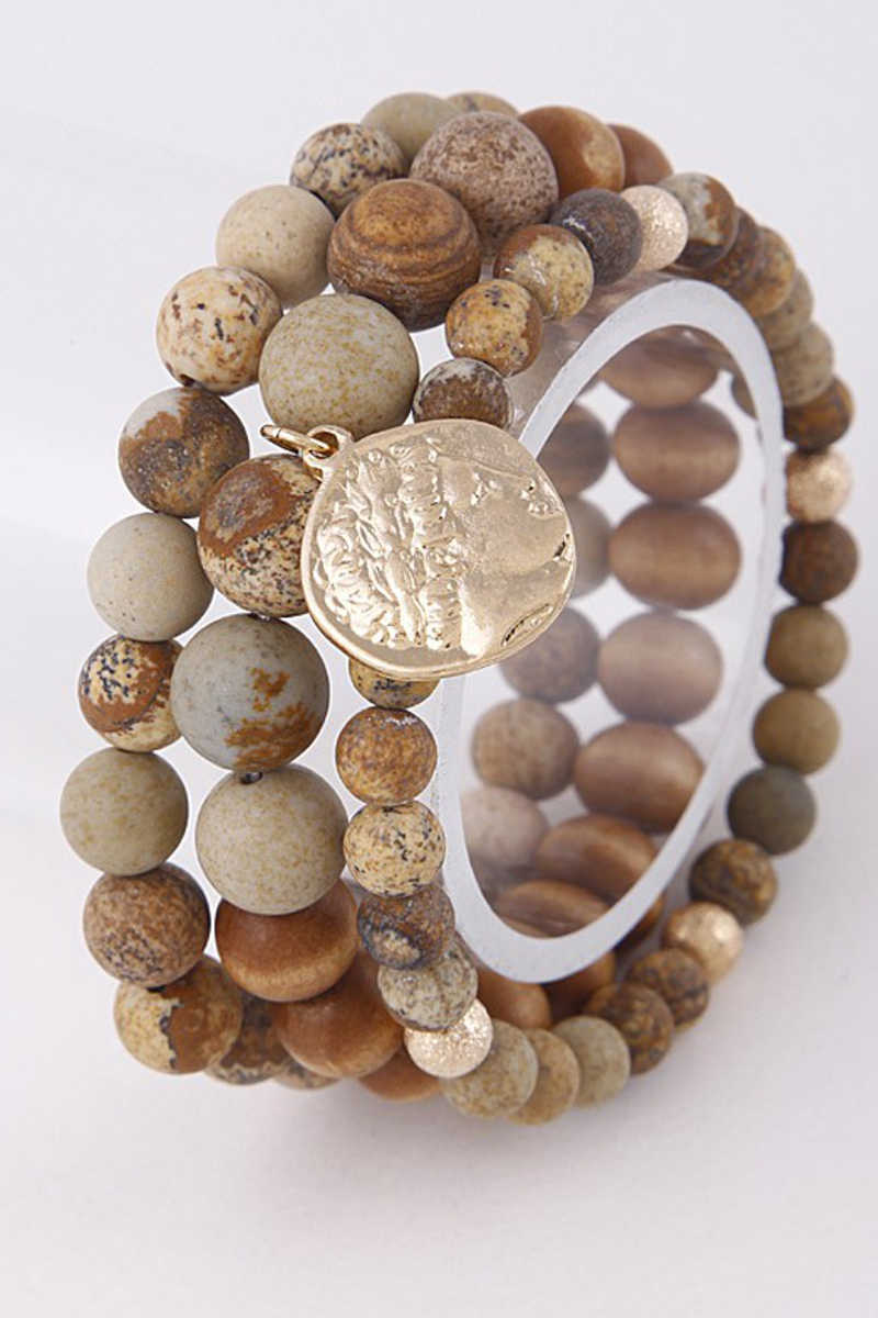Southwest Soul - Beaded Bracelet in Brown