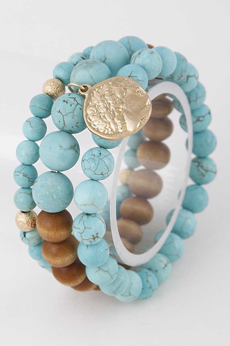 Southwest Soul - Beaded Bracelet in Turquoise