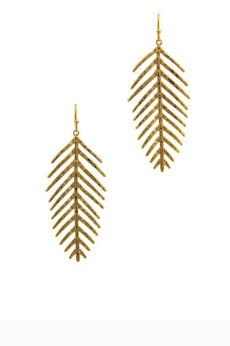 Sweet Re-Leaf Earrings Gold