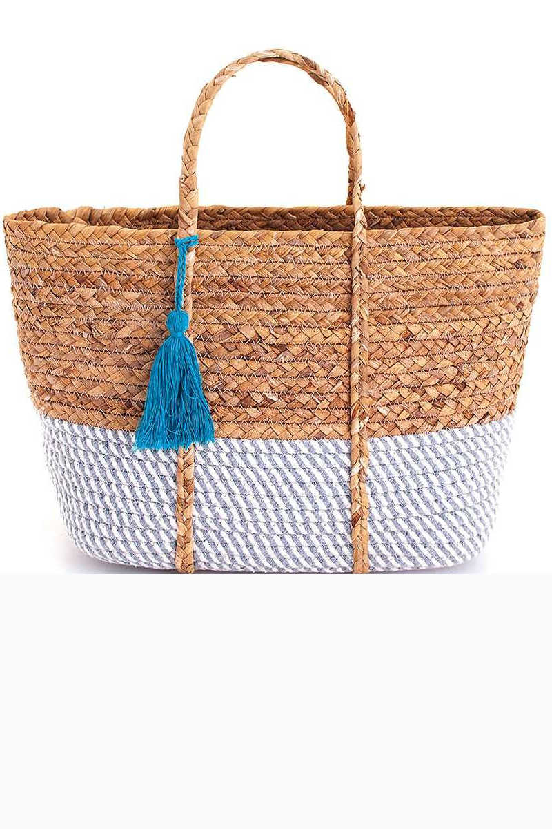 Tan Traveler - Woven Tote Bag