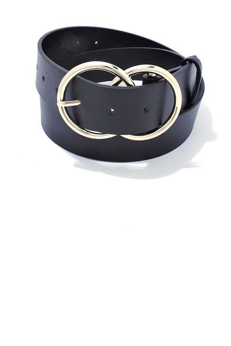 Two Hemispheres Belt in Black