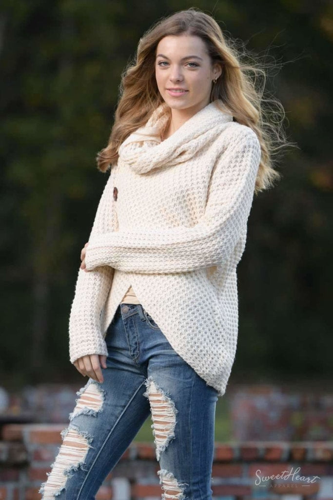 Wrap Me In Love Sweater - Ivory