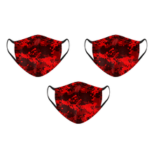 Load image into Gallery viewer, Red Camo Pixel Mask