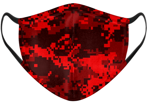 Red Camo Pixel Mask