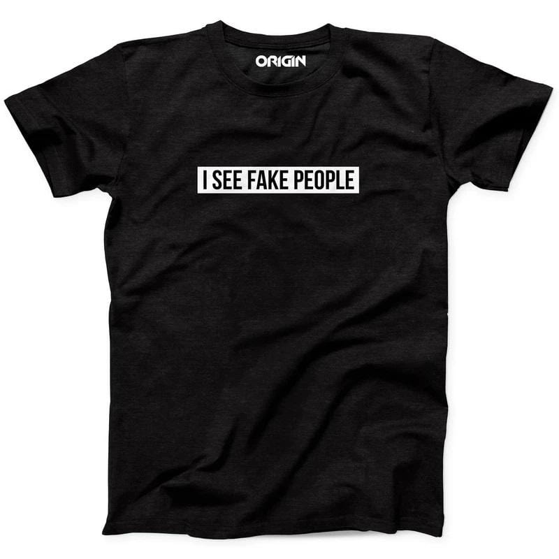 I See Fake People Crew Neck