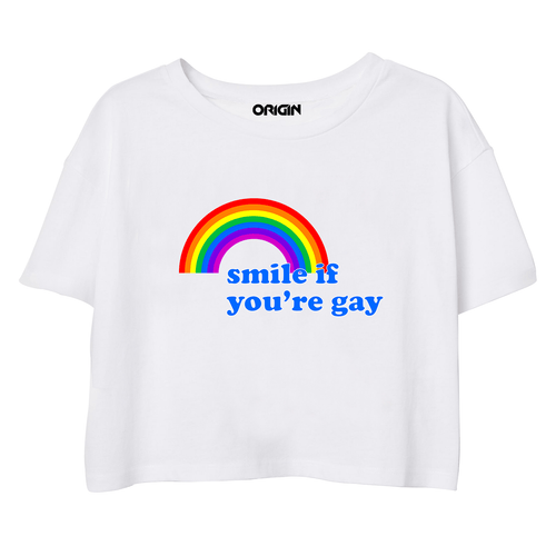 Smile If You're Gay Crop Top
