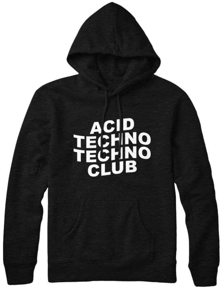 Black Acid Techno Techno Club Hoodie