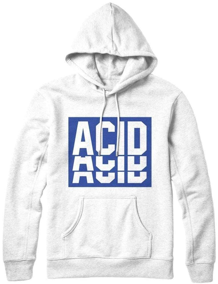 White Acid Cool Hoodies for guys