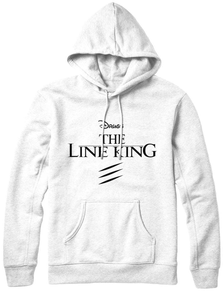 White The line king Hoodie