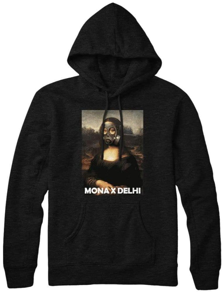 Black mona delhi pollution hoodie