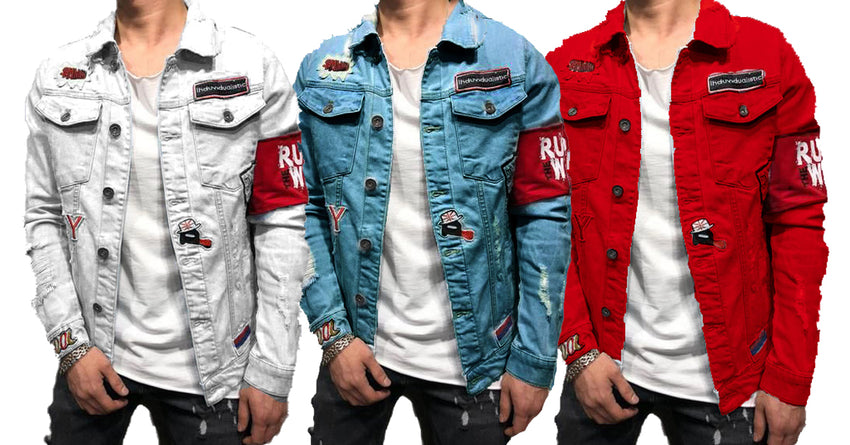 0a5f24ed27b Fashionable Branded Double Pocket Solid Denim Shirts of Men Pack of ...