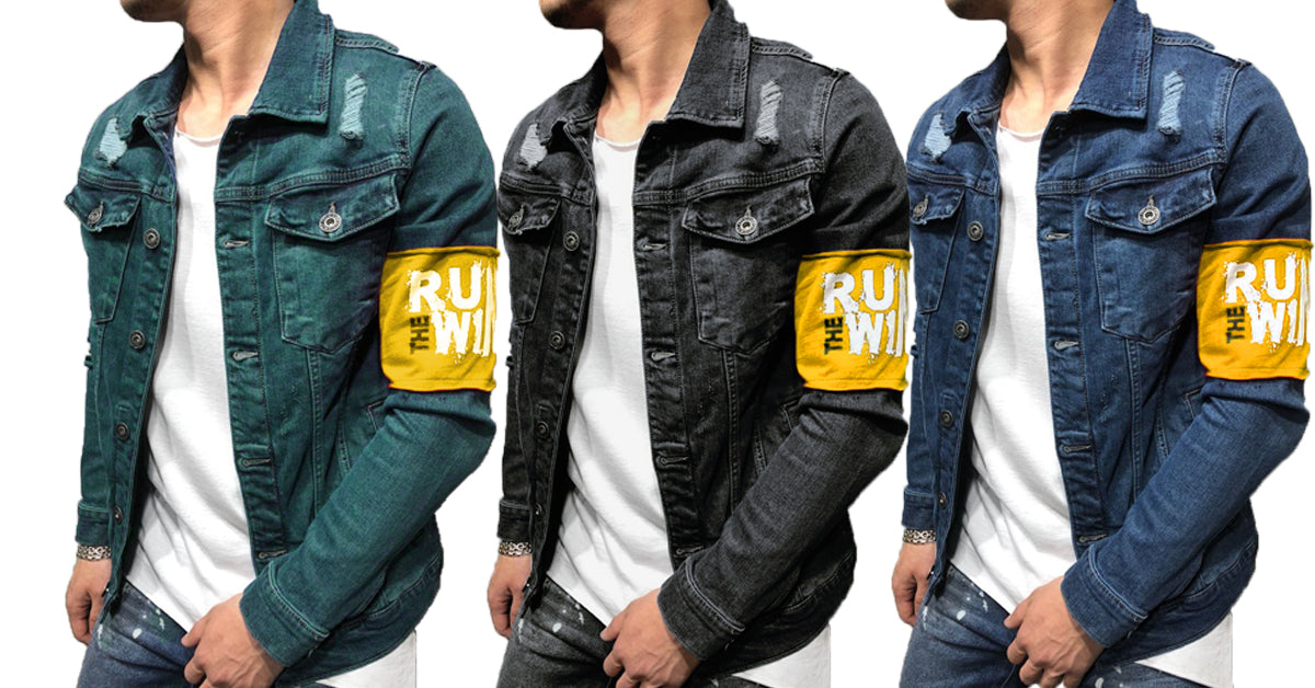 Combo Of 3 Fashionable Branded Double Pocket Solid Denim Shirts Of