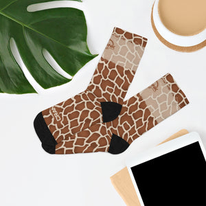 Giraffe Pattern 3/4 MTB Socks
