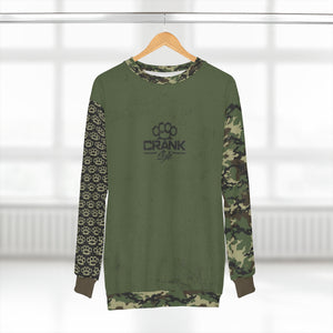 Military Green Camo Knuckle Unisex MTB Sweatshirt