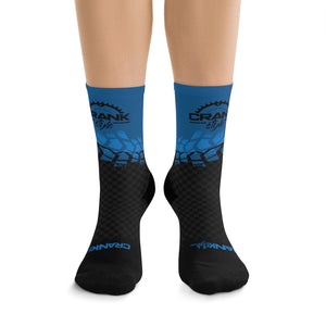 Black & Blue Tire Check 3/4 MTB Socks