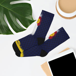 Colorado Checker 3/4 MTB Socks